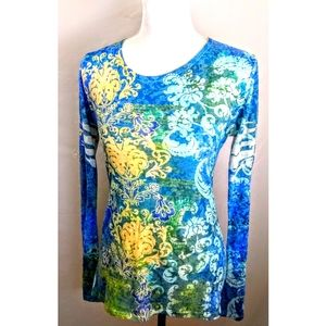 Balance Collection blue/ yellow light weight top L